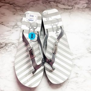 GUESS Sandals in silver with diamond bling